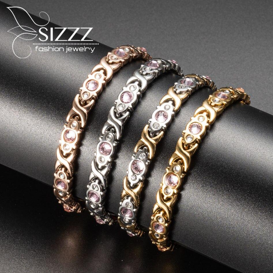 4 Kinds Of Colors Fashion Bracelet Jewelry Energy Health Magnetic Bracelets for Women Balance Bracelets & Bangles