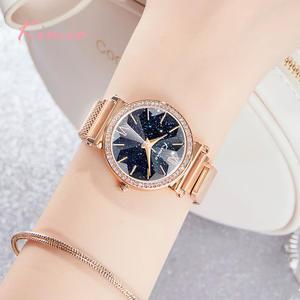 Watches Magnetic Women Ladies Luxury Buckle Rose-Gold Sky Fashion Kimio-Brand Quartz