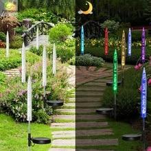 Solar Colorful Lawn Light Outdoor Waterproof Acrylic Stick Bubble Light Villa Garden Decoration Led Landscape Light