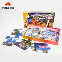 Puzzle King AR Puzzles Car Toy Children Jigsaw Puzzles Kids Educational Toys for Children Christmas Gift Puzzle Game Kid Toys