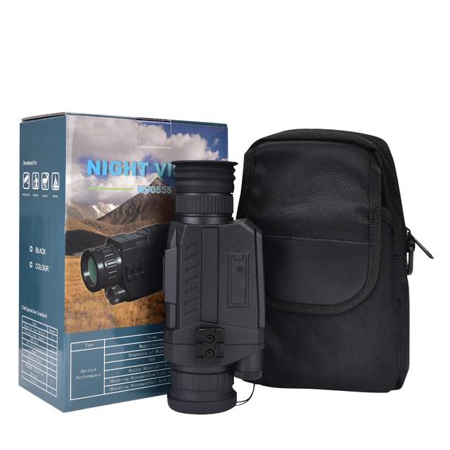 WG535 Digital Night Vision Monoculars 200m full dark DVR NIght Vision Scope 5X Optical Magnification Photo Video Hunting Cameras 5