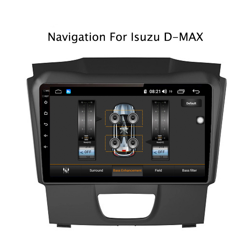 Best Ectwodvd 9inch Andriod 8.1 Car DVD GPS For Isuzu D-MAX DMAX 2015-2018 4G RAM 64G ROM CarPlay DSP 4G LTE with WIFI 5