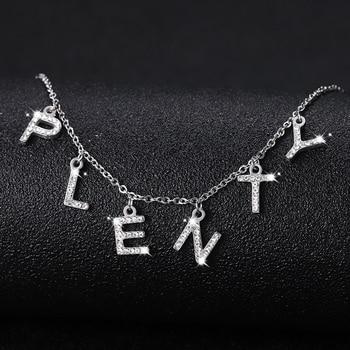 Custom Single Zircon Letters Name Necklaces & Pendant Charm For Men/Women Gold Color Hip Hop Custom Necklace Jewelry Gifts 2020 fashion hip hop chain necklace for women jewelry gifts letters and lock pendant necklace accessories