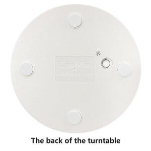 Image 5 - 20cm Weiß Fernbedienung Elektrische Plattenspieler 360 Grad Rotierenden Basis Fotografie Ausrüstung Produkt Display ständer ComXim