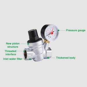 Image 5 - 1/2 Cal regulator ciśnienia wody z miernika ciśnienia utrzymanie zawór wody z kranu zawór redukcyjny DN15