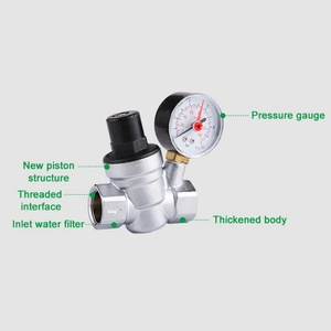 Image 5 - 1/2 zoll Wasser Druckregler mit Manometer Druck Aufrechterhaltung Ventil Tap Wasser Druck Reduzierung Ventil DN15