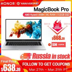 HONOR Laptop Notebook Computer HUAWEI IPS Amd Ryzen 8GB R5 Pro 3550H SSD Ram/512g SSD/16.1''