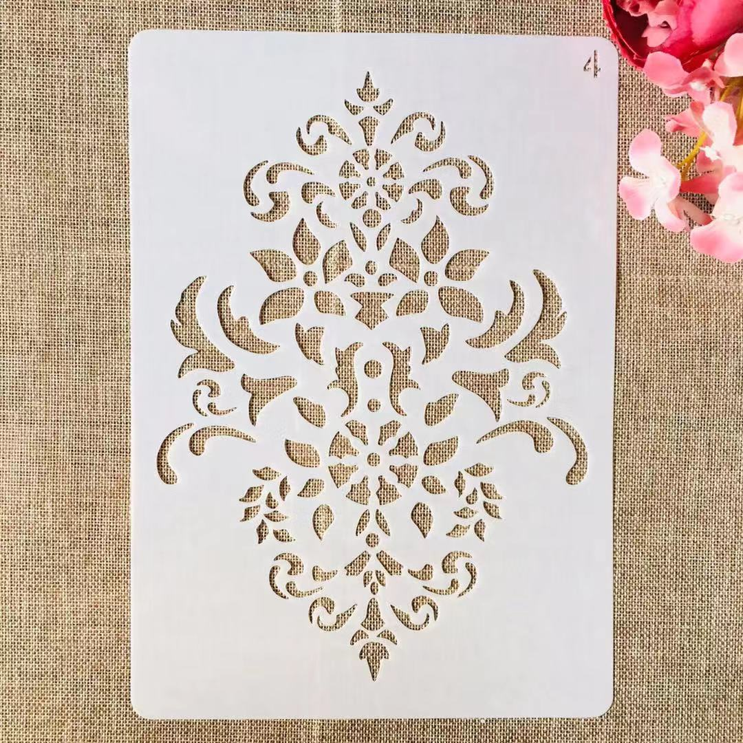 1Pcs A4 29*21cm Flower Symbol DIY Layering Stencils Painting Scrapbook Coloring Embossing Album Decorative Template
