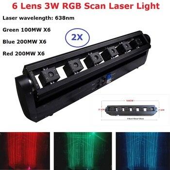 Dj luz do laser rgb 3 w 6 lente laser movendo a cabeça feixe de luz dmx projetor laser luz de palco efeito de iluminação de palco do laser equipamentos clube