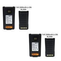 מכשיר הקשר החלפת סוללה 2X BL2016 עבור Hytera PD985 PD985U מכשיר הקשר (Li-on 2000mAh 7.4V) (1)