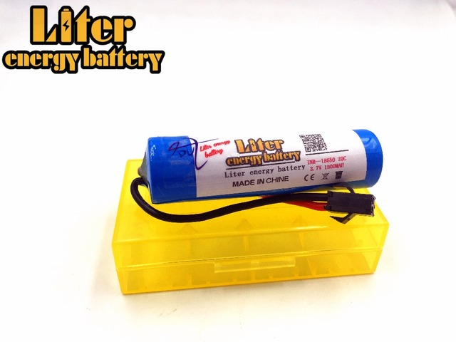 3.7V 1800mAH Remote control helicopter cylindrical 3.7 Lipo battery 3.7V 1800mAH 18650 1800mah 15C 20C JST plug