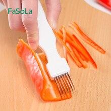 FaSoLa Zwiebel Slicer Shredder Knoblauch Brecher Cutter Messer Pfeffer Reiben Chili Gemüse Chopper Scallion Schneiden Shred Werkzeug