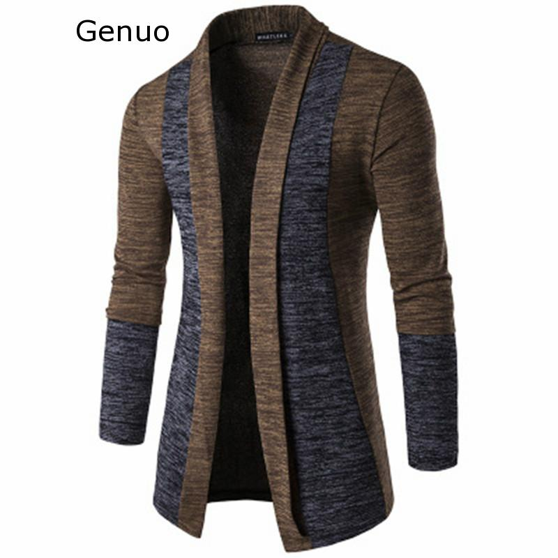 Genuo New Cardigan Men Casual Knitted Cotton Wool Sweater Men Clothes 2020 Autumn Winter New Mens Sweaters And Cardigans Coat