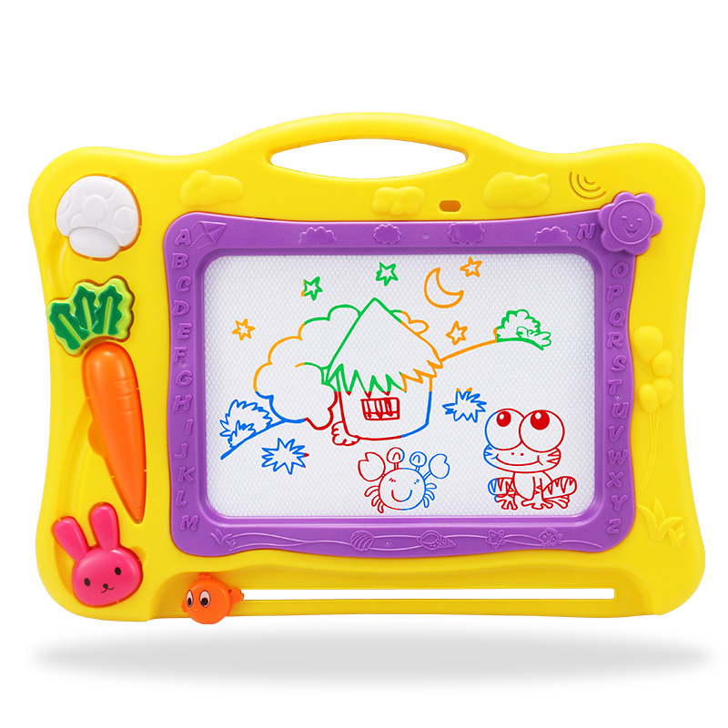 Children Toy Drawing Board Brush 0-3-5-Year-Old 2 Baby Educational Large Size Writing Board Magnetic Drawing Board Color Blackbo
