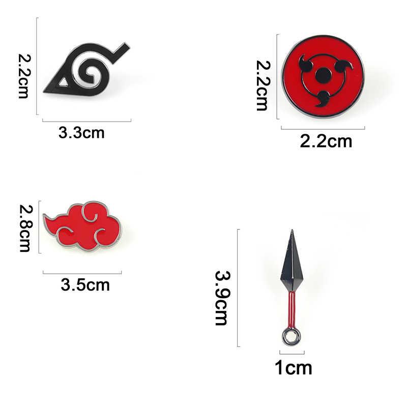 Anime Naruto Broche Prop Akatsuki Cosplay Kostuums Metalen Emaille Pin Mannen Revers Badge Accessoires