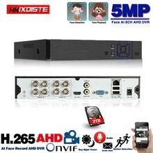 8 canais AHD Gravador de Vídeo H.265 5MP 4MP 1080P CVI TVi 5 em 1 Híbrido DVR 8ch Wi-fi XVi IP NVR Para Câmera de CCTV Casa Surveillanc
