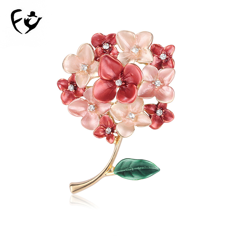 Fashion Crystal Rhinestone Brooch Alloy Corsage Pearl Flower Brooches Scarf Pins Women Costume Jewelry for Women Girls