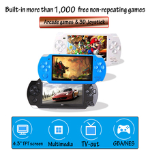 10,000 Games 4.3 Inch TFT Screen 8G Video Game Console Player for PSP Retro Game Handheld Support Mp4 Player Camera Video E book