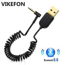 VIKEFON USB Bluetooth 5.0 Receiver Stereo Wireless Adapter 3.5mm Jack Aux Bluetooth Audio Receiver Music Car Kit Transmitter Mic