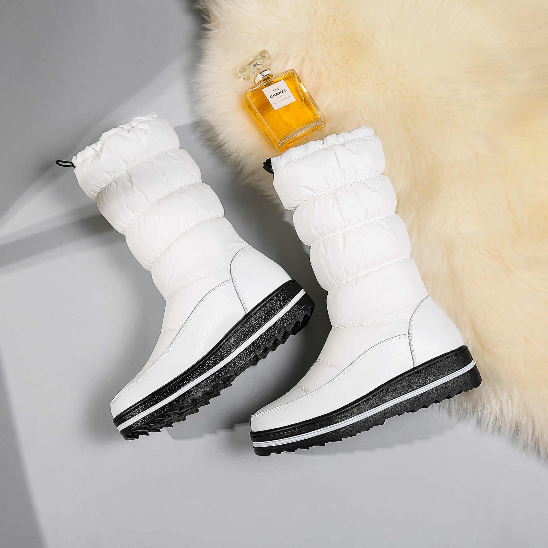 2020 kış yeni deri sıcak aşağı kar botları rahat düz alt botlar pamuklu ayakkabılar kürk botları kadın bayan botları ayak bileği HX-93