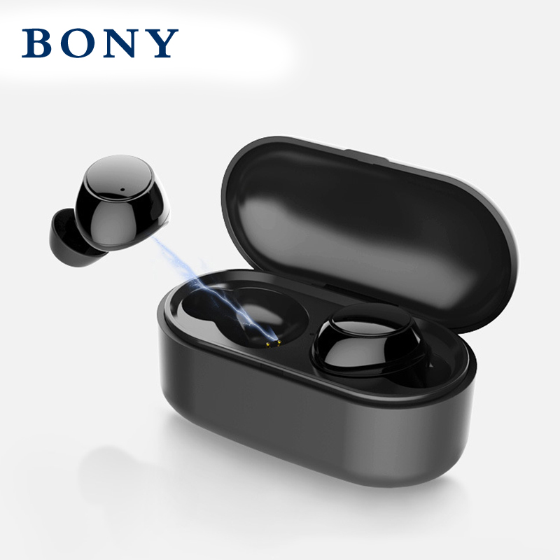 BONY TWS Bluetooth 5.0 wireless headset outdoor sports earplugs with dual microphone stereo sound new headphones free shipping