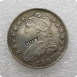 США 1807-1836 покрытый монета пол доллара 50 центов 1/2 копия доллара монеты-копии монет медаль коллекционные монеты значок