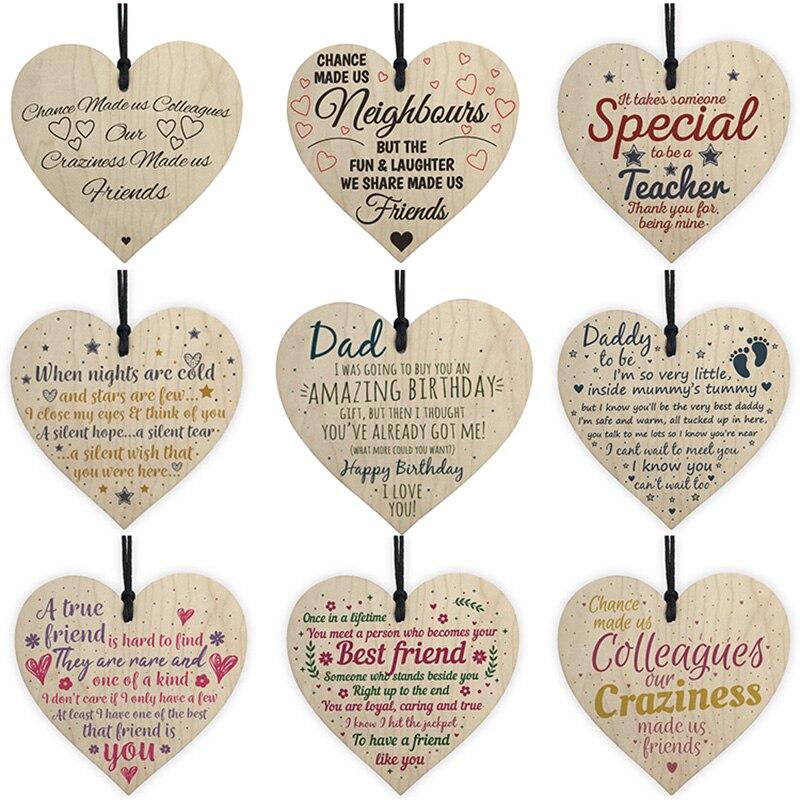 25 Wooden Heart Shape Embellishment Wood Cutout Craft for Wedding Art Plaque