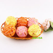Wholesale Pu Squishy Model Color Puff Bread Dessert Bakery Shop Fake Cake Showcase Cabinet Decoration(China)