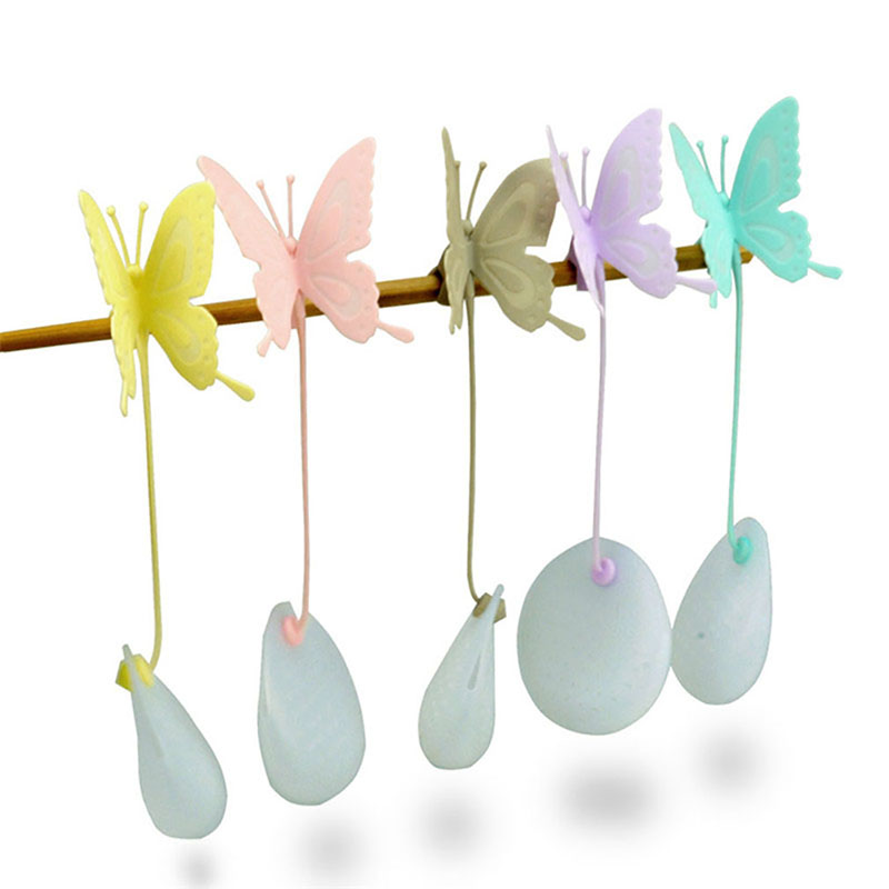 Tea Infuser Filter Strainer Butterfly Shaped Strainer Silicone Tea Bag Holder Reuseable Food Safe Filter Kitchen Accessories