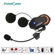 Freedconn T Max Casco Del Motociclo di Bluetooth Intercom Headset 1000M 6 Riders Gruppo di Conversazione del Sistema FM Radio