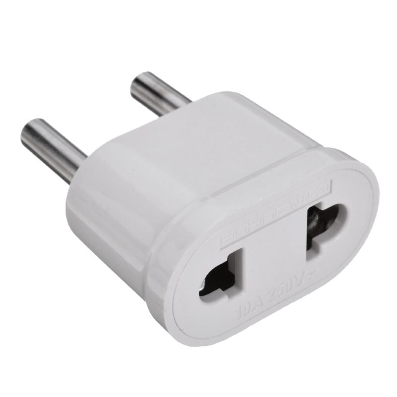 New EU Euro Europe to US USA Power Jack Wall Plug Converter Travel Adapter VGCA