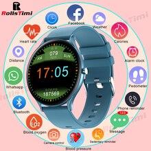 Rollstimi 2021 Women Smart Watch Real-time Weather Forecast Activity Tracker Heart Rate Monitor Sports Ladies Smart Watch Men