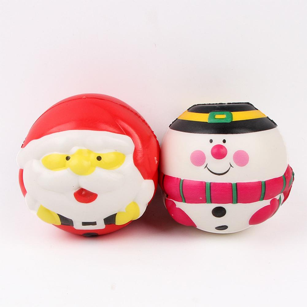 6cm PU Santa Claus/Snowman Ball Squishies Slow Rising Toys Doll Stress Relief Toy