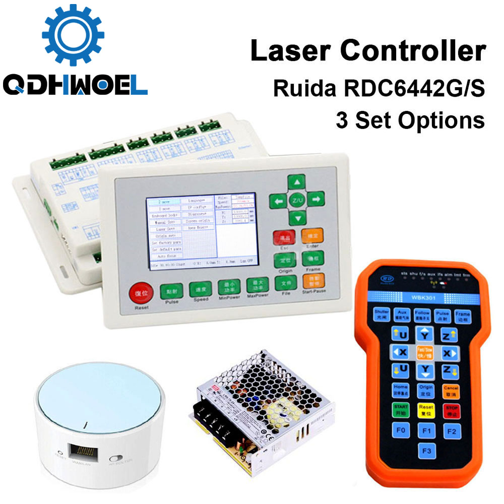 Ruida RDC6442G RDC6442S DSP Laser Controller Panel PSU WIFI Handle For Co2 Laser Engraving Cutting Machine