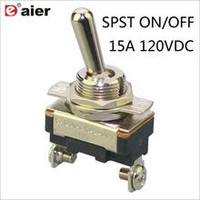 цена на 4Pcs Toggle Switch 15A 120VDC SPST 2 Pins 12MM ON/OFF Metal Auto Switches ASW-23-101A Maintained Fuction With Screw Terminal