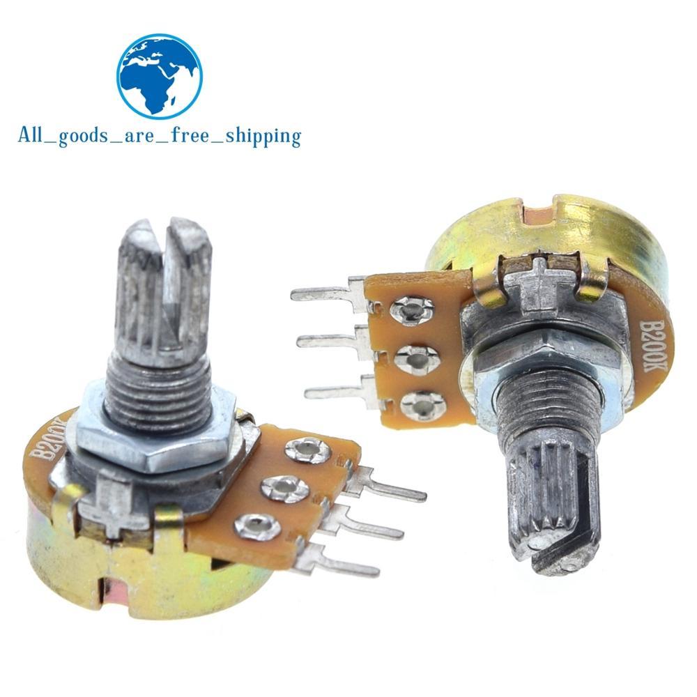 WH148 potenciómetro lineal eje de 15mm con tuercas y arandelas 3pin WH148 B1K B2K B5K B10K B20K B50K B100K B250K B500K B1M