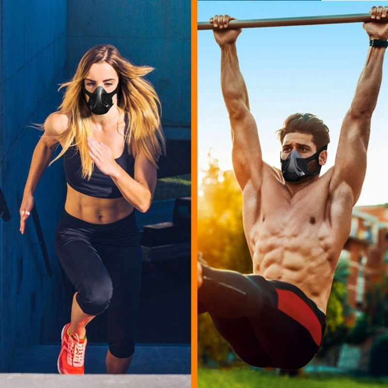 24 Adjustable Breathing Levels Workout Hypoxic Mask Fitness Sports Mask Running Cardio Resistance Endurance Mask Unisex