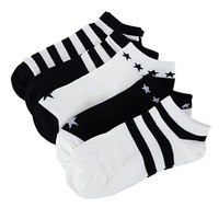 5Pairs Socks Women And Men Comfortable Stripe harajuku Cotton Blend Sock Slippers Short Ankle Socks set of women's socks 20FEB7