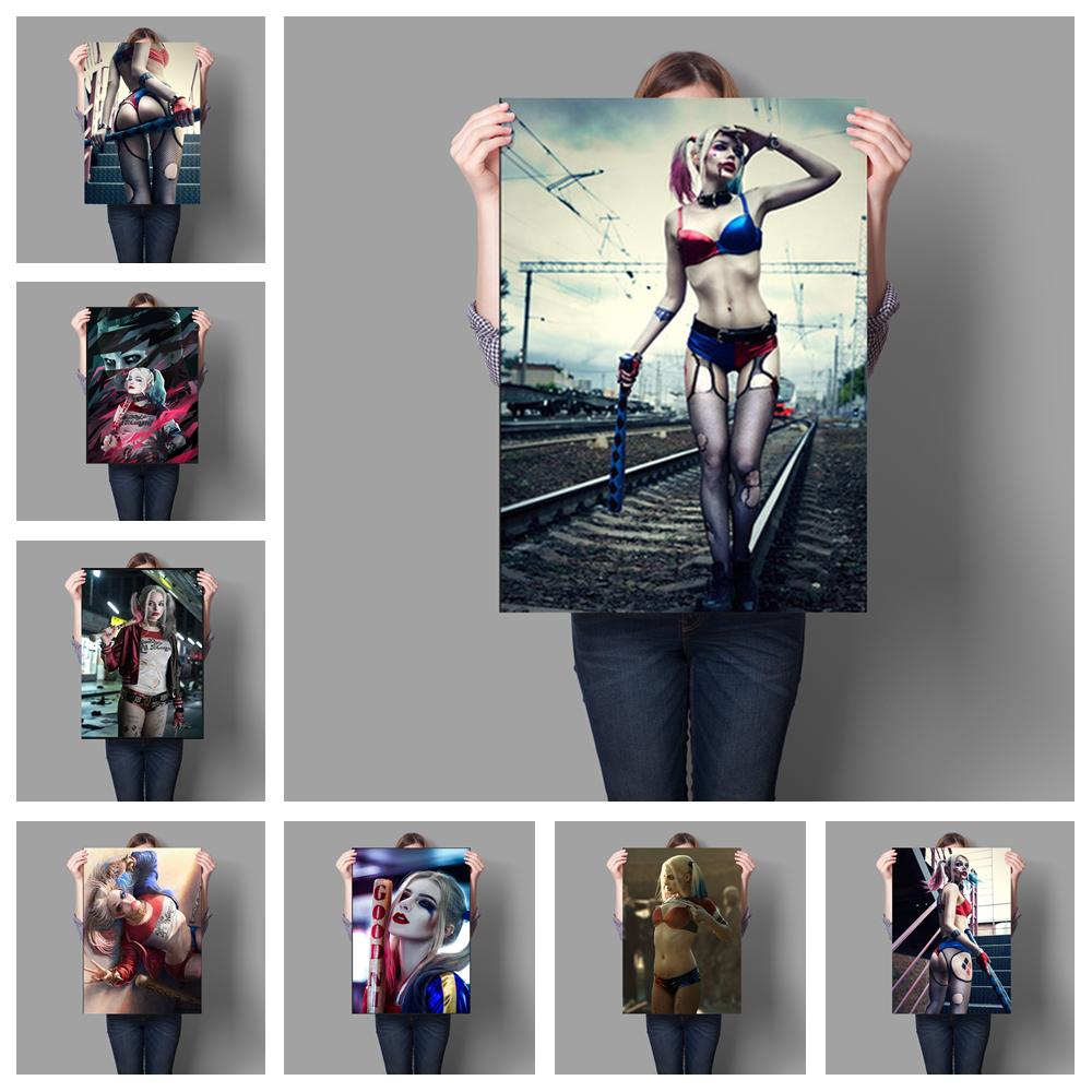 HD Suicide Squad  Harley Quinn Posters Hight Quality Canvas Painting Hight Quality Home Decor No Frame For Children's Room O262