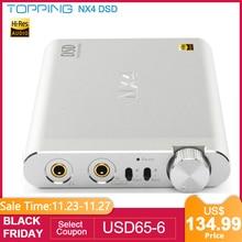 アップグレードバージョントッピングNX4 DSD512 ES9038Q2M XMOS XU208 チップポータブルusb dacデコーダビット/768 125khzヘッドフォンアンプ