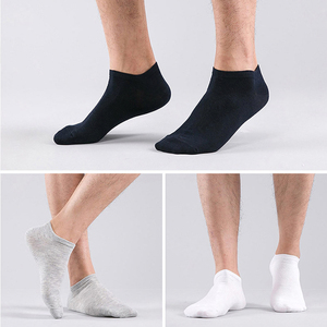 Носки HSS мужские тонкие, брендовые воздухопроницаемые короткие черные носки из 100% хлопка, для студентов, размер 39-44, на лето