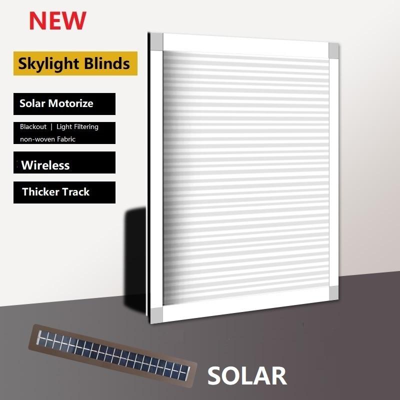 Clarabóia elétrica solar favo de mel persianas celulares janela cortinas do telhado mecanismo sem fio feito sob encomenda