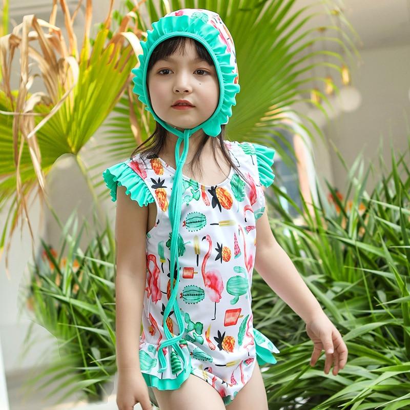 INS South Korea Cute KID'S Swimwear Girls Dress-Princess One-piece Swimwear GIRL'S Baby Girls Quick-Dry Tour Bathing Suit