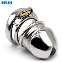 Cock-Ring Chastity-Lock NUUN Cage Penis Glans Male Realistic 304-Stainless-Steel The