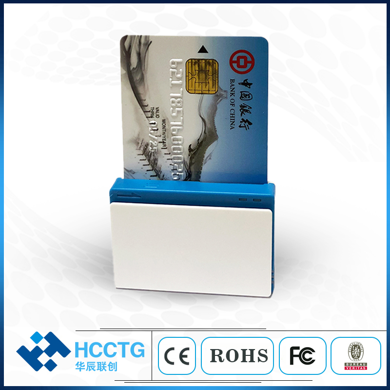 IC & магнитный (Track1/2) Мобильный кард-ридер, IC кард-ридер/писатель с EMV L1/L2 соответствия MPR100