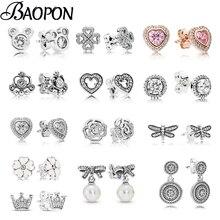 Новые сверкающие короны, серьги-гвоздики в форме сердца, прозрачные фианиты, оригинальные Изящные серьги для женщин, влюбленных, рождественские украшения, подарок, специальное предложение