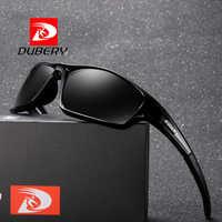 DUBERY Polarized Sunglasses Men Brand Design Rectangle Mirror Sport Luxury Vintage Male Sun Glasses For Men Driver Shades Oculos
