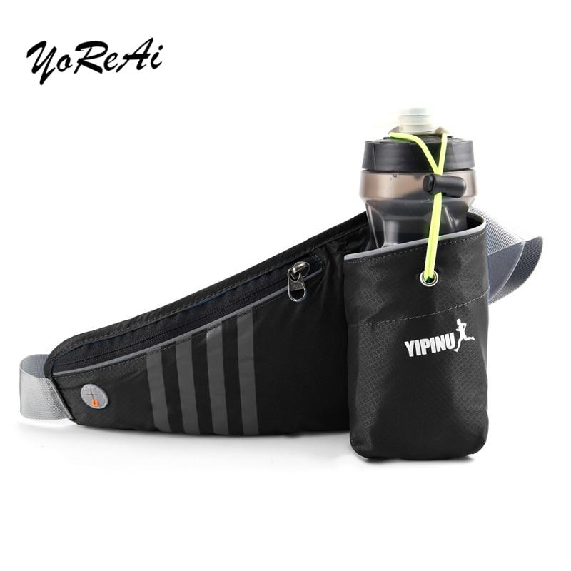 YoReAi Outdoor Running Waist Belt Bag Packs Marathon With Water Bottle For Phone Sports Trail Running Bag Men Women Fanny Pack