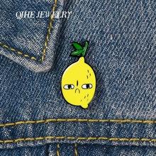 Qihe ювелирные изделия angry лимон броши на булавке фрукты история