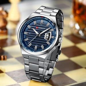 Image 3 - CURREN New Men Business Watch Full Steel Quartz Top Brand Luxury Sports Waterproof Casual Male Wristwatch Relogio Masculino